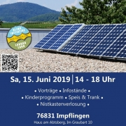 Solar-Aktions-Tag 2019 | Impflingen | Sa. 15. Juni 2019